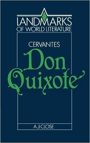 Book Cervantes: Don Quixote (Landmarks of World Literature) by Anthony J. Close (1990-06-29)