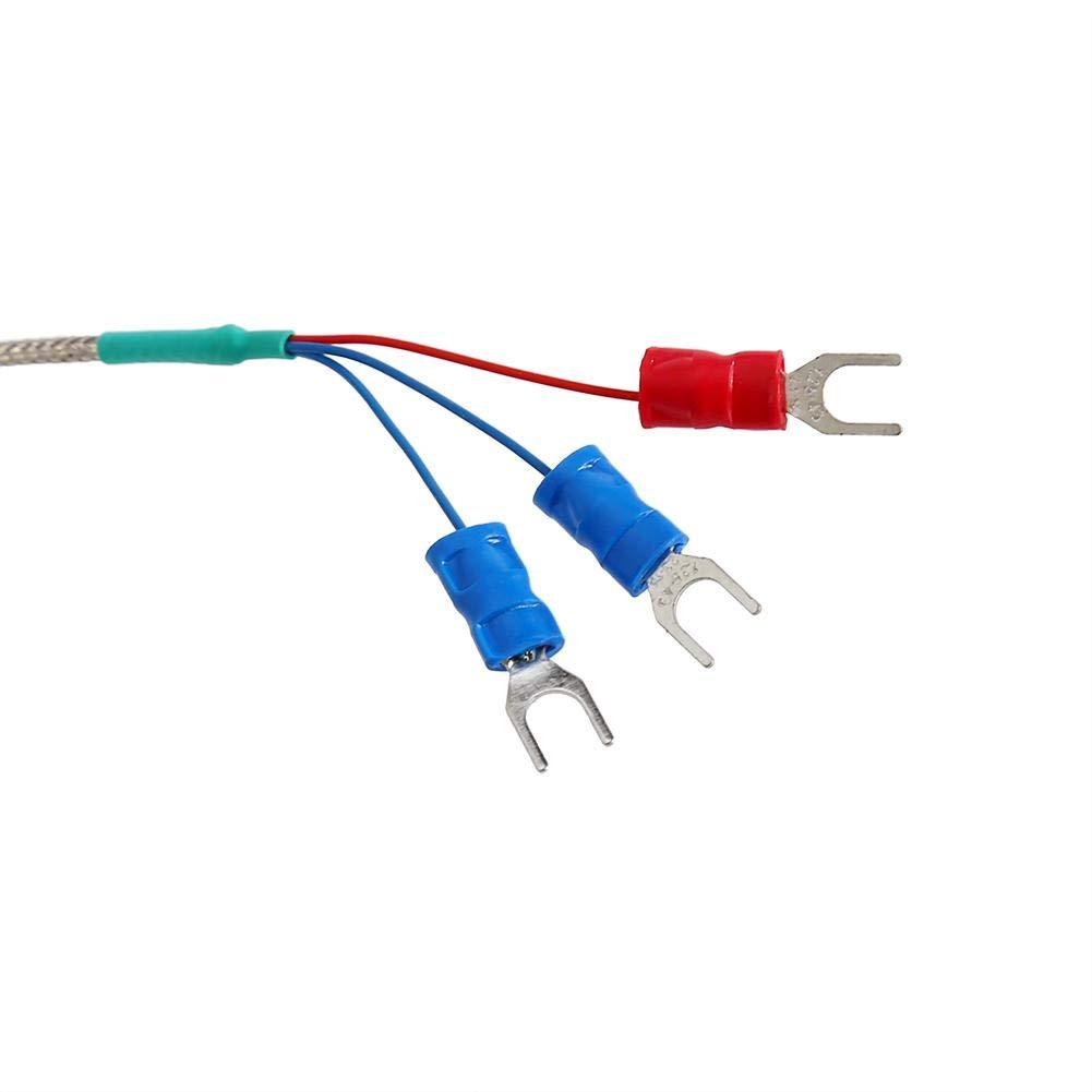 50 /à 300 /°C RTD PT100 Capteur de temp/érature thermocouple 1//2 NPT raccord filet/é avec 3 c/âbles 2 m de Long de