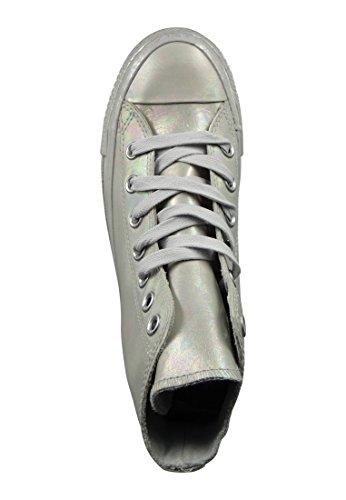 Plata Altas Zapatillas Star Taylor Mujer Chuck para All Converse wxqzFn8S