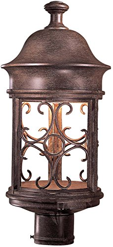 Minka Lavery Outdoor Post Lights 8286-A61 Sage Ridge Dark Sky Exterior Lighting Fixture, 60 Watts, Rust