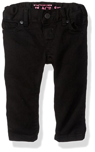 The Children's Place Toddler Girls' Black Skinny, Black Wash, 18-24MONTH (Black Toddlers Jeans)