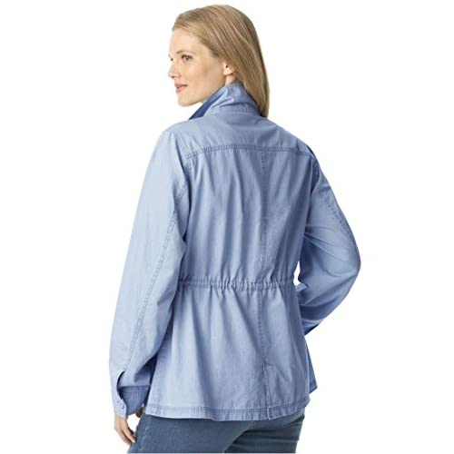 fd188731273 outlet Woman Within Women s Plus Size Sport Twill Utility Jacket ...