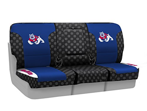 Coverking Custom Fit Front 40/20/40 NCAA Licensed Seat Cover for Select Nissan Titan Models - Neosupreme (Fresno State) by Coverking