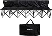 Franklin Sports Sideline Team Bench - Folding 6 Person Bench for Seating - Soccer + Sport Team Collapsible 6 C