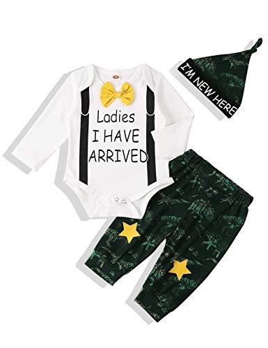 Xuefoo Set di Abbigliamento con Stampa di Testa di Cervo per Neonato Neonato Set di Abbigliamento con Cappuccio per… 1