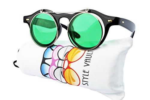 W83-vp Style Vault 80s Flip up Steampunk Sunglasses (co - Sunglasses Styles 80s