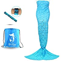 Airdom Mermaid Tail Blanket for Kids Toys Little Crochet...