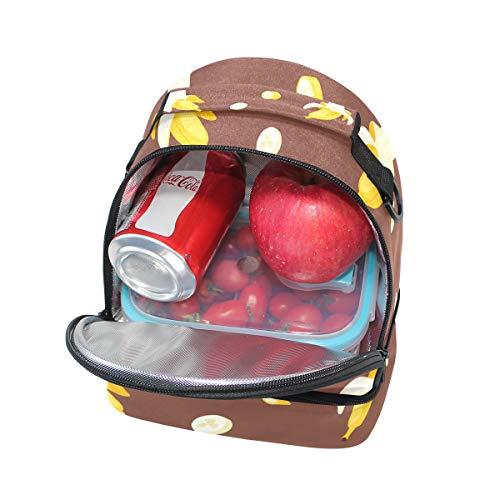 de ajustable para con correa con plátano Alinlo térmica diseño hombro Bolsa el xO4qAWwnI