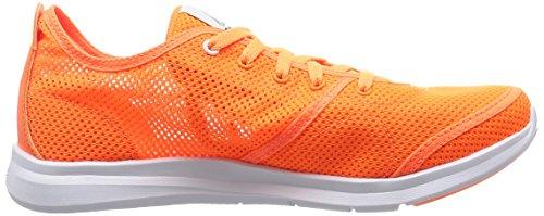 Reebok Cardio Charge Low, Zapatillas de Deporte para Mujer Naranja / Rojo / Blanco (Electric Peach / Atomic Red / White)