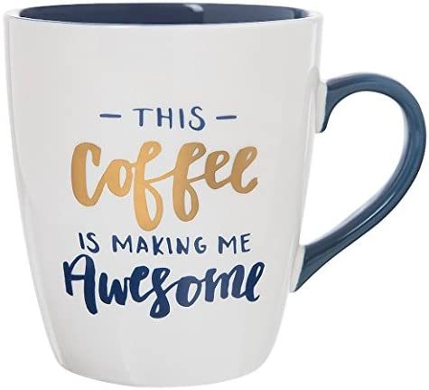"Jumbo Mug 27oz Porcelain ""This Coffee Is Making Me Awesome"""