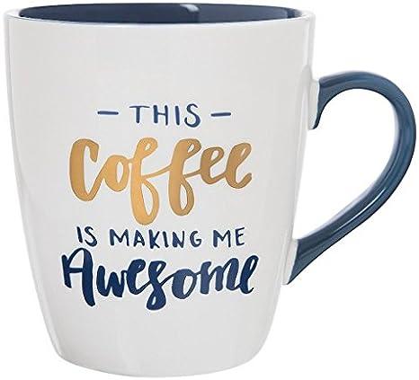Amazon Com Jumbo Mug 27oz Porcelain This Coffee Is Making Me Awesome Kitchen Dining