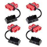 Battery Quick Connect Disconnect Wire Harness Plug Kit 6-8 Gauge Recovery Winch Auto Car Trailer Driver Electrical Devices- 50A Quick Connect Wire Connectors