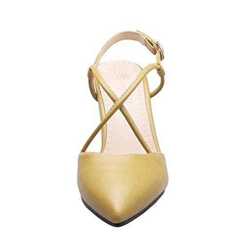 Dressy with and Chunky with Sandals Sexy Sandals Green Toe Heel Smilice Pointed Straps Cross Uw61xq8E