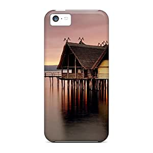 For Iphone 5c Fashion Design Huts On Water Case-PivsdkN2280vBUdh