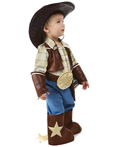 Princess Paradise Baby's Cowboy, Brown, 12 to 18 months (Childs Deluxe Cowgirl Costume)
