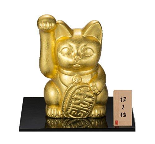 金沢本金箔 開運 招き猫(大) 右手 陶器 A142-06013 B018WSKYL6