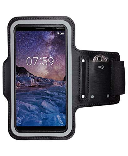 CoverKingz Sportarmband voor Nokia 7 Plus – armtas met sleutelvak Nokia 7 Plus – sport looparmband mobiele telefoon…
