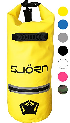 Waterproof Dry Bag by SJORN - Outside Reflective Zip Pocket, Shoulder Strap & Visibility Window. Best for Keeping Gear Dry when Travelling Rafting Boating Kayaking Canoeing Camping Hiking 20L - Yellow Uk For Sale Anaconda