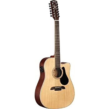 amazon com alvarez artist series ad60 12 dreadnought twelve string rh amazon com