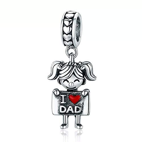 ABAOLA Boy OR Girl Dangle 925 Sterling Silver Child Charm Beads for Fashion Charms Bracelet & Necklace - Sterling Silver Dangle Charm