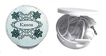 Auriculares in-ear en una caja personalizada con Kanoa (nombre de pila/apellido