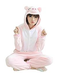 I'MQueen New Arrivals Unisex Adult Pig Onesie Animal Pajamas Cosplay Costumes
