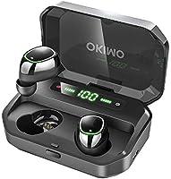 【第2世代 3500mAh IPX7完全防水】 OKIMO Bluetooth イヤホン LEDディスプレイ ワイヤレスイヤホン Hi-Fi 高音質 最新Bluetooth5.0+EDR搭載 3Dステレオサウンド 完全ワイヤレス イヤホン...