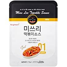 MISS LEE Korean Foods Topokki Ddeokbokki Stir-fried Rice Cake Sauce, Level 1 Mild and Sweet - Pack of 5