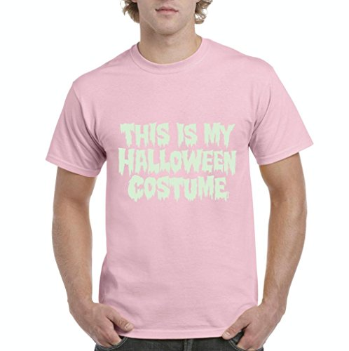 Xekia This is My Halloween Costume Fashion Party People Best Friends Gift Couples Gift Men's T-Shirt Tee XXX-Large Light Pink -