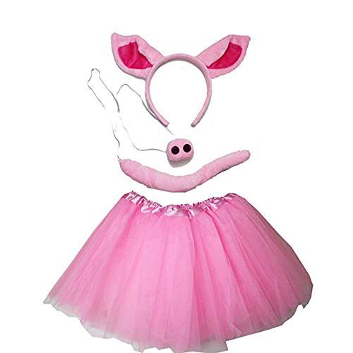 Kirei Sui Kids Costume Tutu Set Red Fox