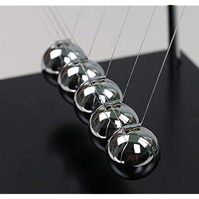 JULY PRO Classic Newton Cradle Balance Ball Science Gift Desktop Decor: Toys & Games