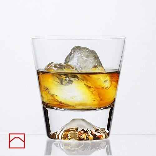 Mars Planning [Premium Gift Set] Tajima Glass Mount Fuji Base Fujisan Glass Set Fuji Glass / Fujisan Hoei Glass (Clear) / With Wooden Coaster by Mars (Image #6)