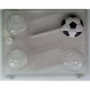 Medium-size soccer balls S052 Sports Chocolate Candy Mold
