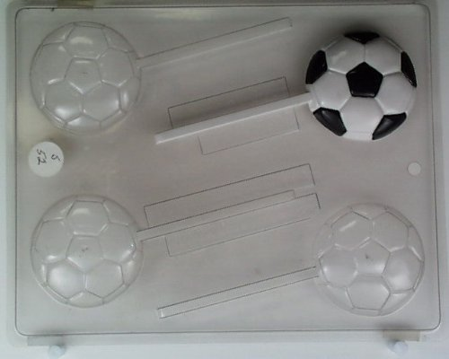 Medium-size soccer balls S052 Sports Chocolate Candy Mold -