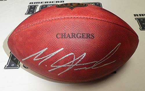 Melvin Gordon Autographed Signed Official NFL Football Bas Beckett Coa Chargers Game Ball 28 - Certified Signature Autographed Official Nfl Game Football