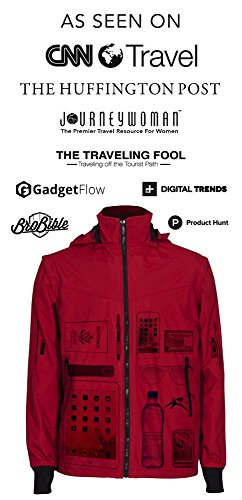 Joey Travel Jacket with Hidden Pockets. (Medium, Blue) by Global Travel Clothing (Image #3)