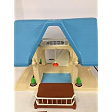 Vintage Little Tikes Dollhouse with Blue Roof