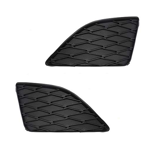 Pair Set Front Bumper Insert Fog Lamp Hole Grille Covers Replacement for 09-10 Toyota Corolla w/out Fog Lamps 8148202080 8148102090