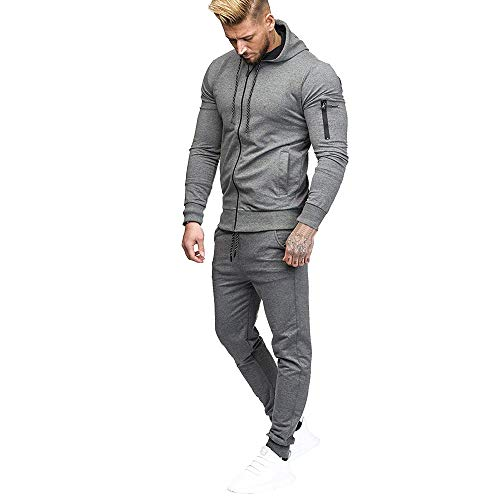 Amazon.com: Clearance Men Coat Muranba Autumn Full-zip Sweatshirt Pants Sets Sports Suit: Clothing