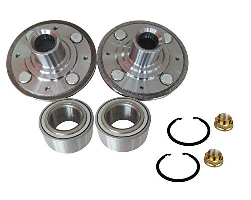 (DTA 2 Front Wheel Hubs + 2 Wheel Bearings Replace Dorman 930-981 510030 Fit 1994-2001 Acura Integra; 1992-2000 Honda Civic EX, Si Models With ABS;1994-1997 Civic Del Sol With ABS)