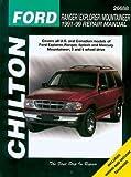 1996 ford ranger service manual - Chilton Ford Explorer/Ranger/Mountaineer 1991-1999 Repair Manual (26688)
