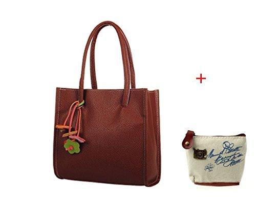 Faux Leather Handbag Purse Bag - 4