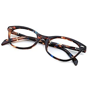 Slocyclub Cateye Eye Glasses Non-prescription Clear Optical Lens Plate Frame