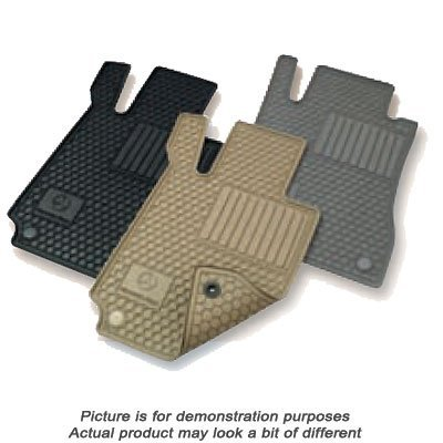 Mercedes Benz Q6680665 C-Class Black All Weather Rubber Floor Mat Sets (C-class Sedan Mercedes)