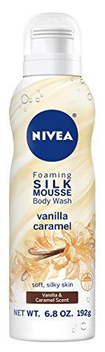 - Nivea Vanilla Caramel Foaming Silk Mousse Body Wash, 6.8 Ounce
