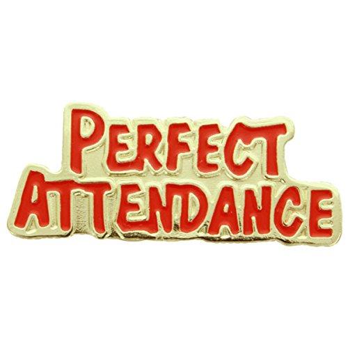 [Perfect Attendance Lapel Pin - Pack of 12] (Attendance Award Pin)
