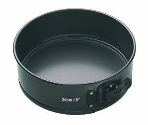"Kitchencraft Master Class Molde Redondo Desmontable, Acero, Negro, 20 cm (8"")"