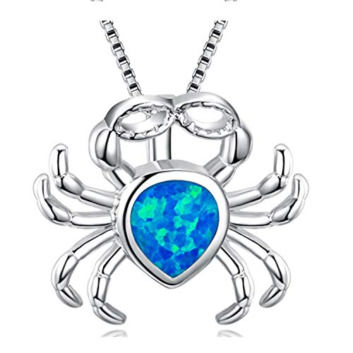 Fashion Silver Filled Blue Imitati Opal Sea Turtle Pendant Necklace For Women Female Animal Wedding Ocean Beach Jewelry Gift A041 50cm