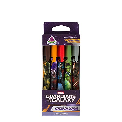 Marvel's Guardians of the Galaxy Scented Gel Crayons by (Guardian Markers)