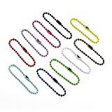 Airssory 100 Pcs Colorful Ball Bead Metal